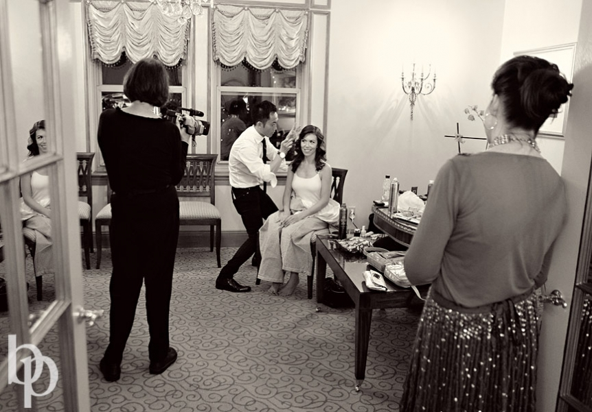 Boston Public Library Wedding Preparation © Brian Phillips Photography