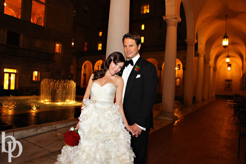 Boston Public Library Wedding Bride Groom © Brian Phillips Photography