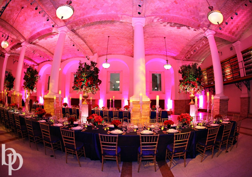 Boston Public Library Wedding Room Set up © Brian Phillips Photography