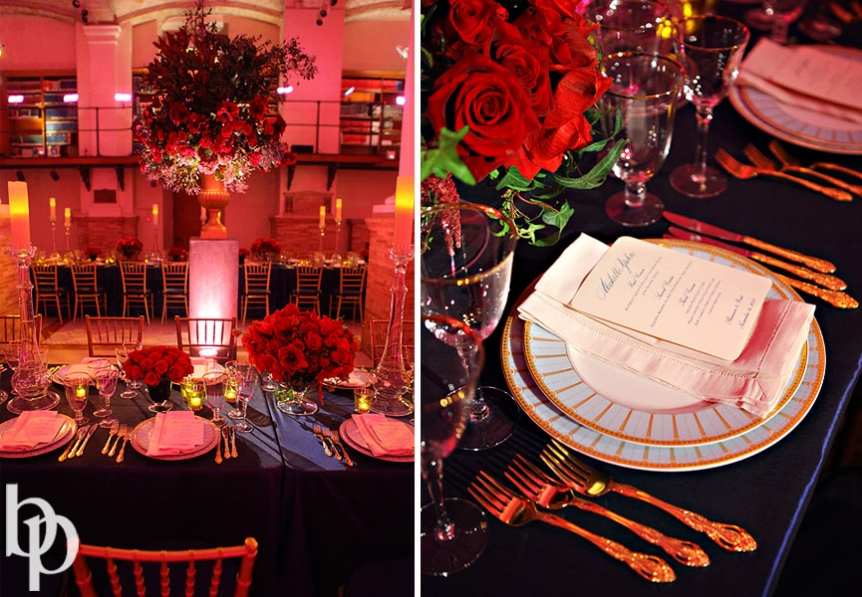 Boston Public Library Wedding Reception Details © Brian Phillips Photography