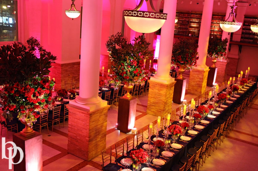 Boston Public Library Wedding Reception Overall © Brian Phillips Photography